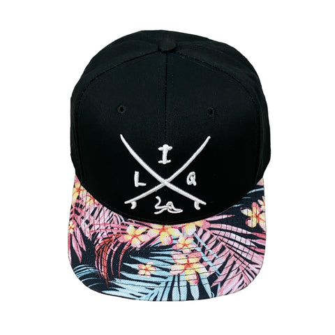 Black Hawaiian Snapback