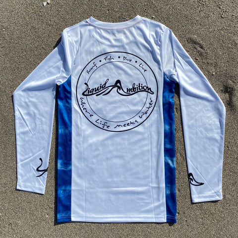 White/Blue Long Sleeve