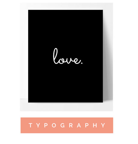 Typography Wall Art Poster Print Home Decor