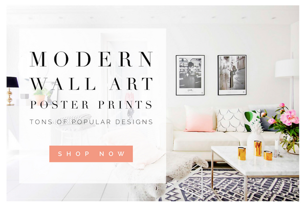 Modern Wall Art Poster Prints Affordable Home Decor
