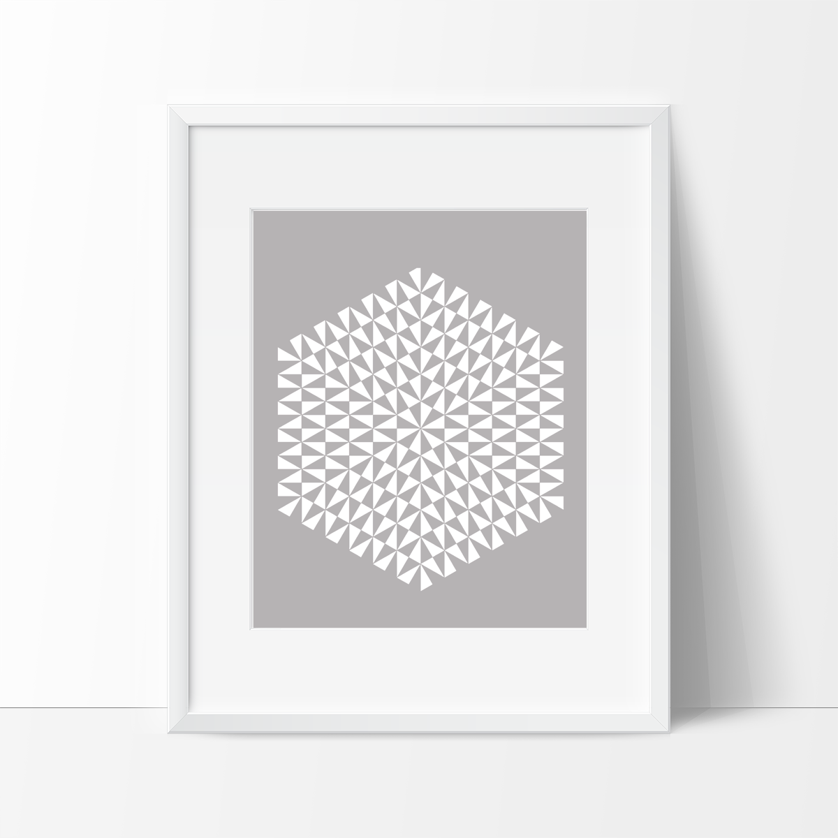 Modern Geometric Art Print - Dark Grey - Ink Print Art