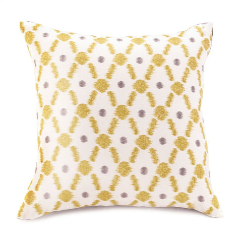 Yellow Diamond Throw Pillow - Ink Print Art