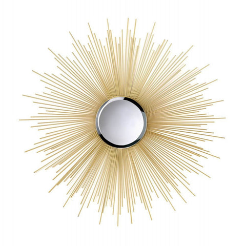 Sunburst Mirror Home Decoration Wall Mount - Ink Print Art  - 1
