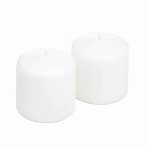 Unscented White Pillar Candles - Ink Print Art