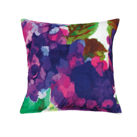 Purple Impressionist Throw Pillow - Ink Print Art  - 1