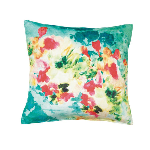 Summer Splash Throw Pillow - Ink Print Art  - 1