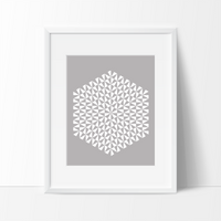 Modern Geometric Art Print - Dark Grey