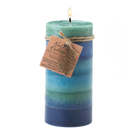 Soothing Aroma Pillar Candle 3x6 - Ink Print Art