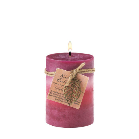 Relaxation Aroma Pillar Candle 3x4 - Ink Print Art