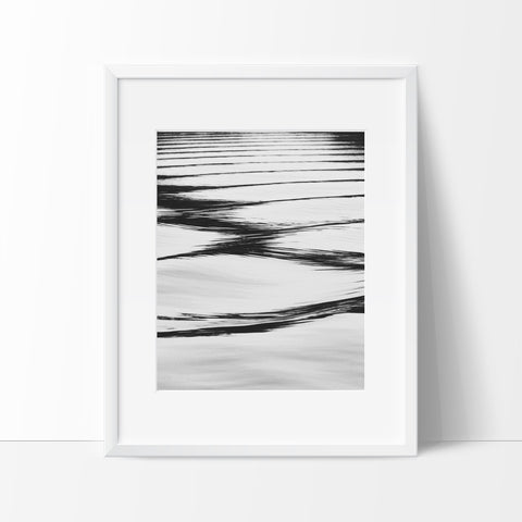 Ripples in the Water Photography Wall Art, Contemporary Decor Ideas - Ink Print Art