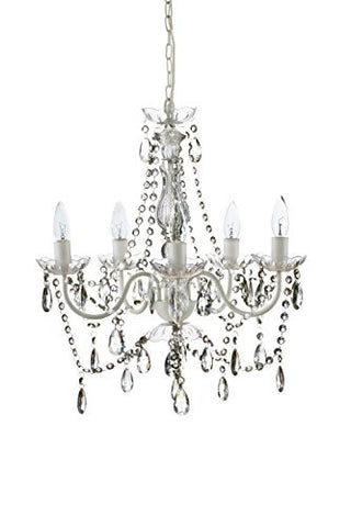 "The Original Gypsy Color 4 Light Small Gypsy Chandelier H18"" W15"", Red Metal Frame with Multi Color Crystals"