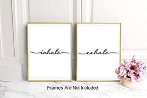 Inhale Exhale Art Print Set of 2