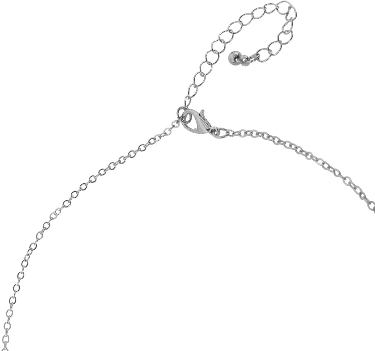 Humble Chic Women's Y-Chain Bar Necklace - Adjustable Long Thin Delicate Chevron Choker Lariat, Silver-Tone