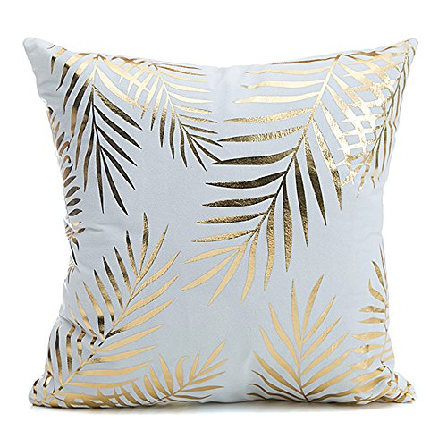 "Tree Leaves Home Flannel Throw Pillow Cover Euro Shams Pillow Covers Golden Tree Leaves Decorative Sofa Cushion Covers 18""x18"""