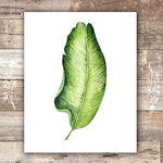 Botanical Prints Wall Art - Tropical Leaves Wall Decor Art Prints - (Set of 6) - Unframed - 8x10s