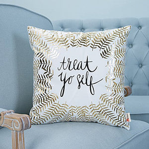 Treat Yo Self Home Pillowcases Throw Pillow Cover (18 18 inches Without The Inside)