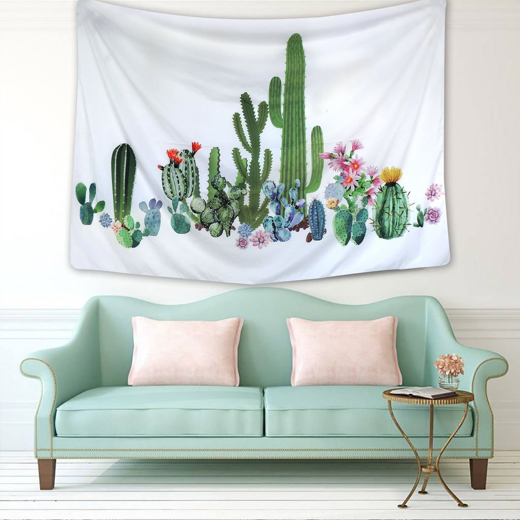 Summer Cactus Tapestry Wall Hanging Home Decor