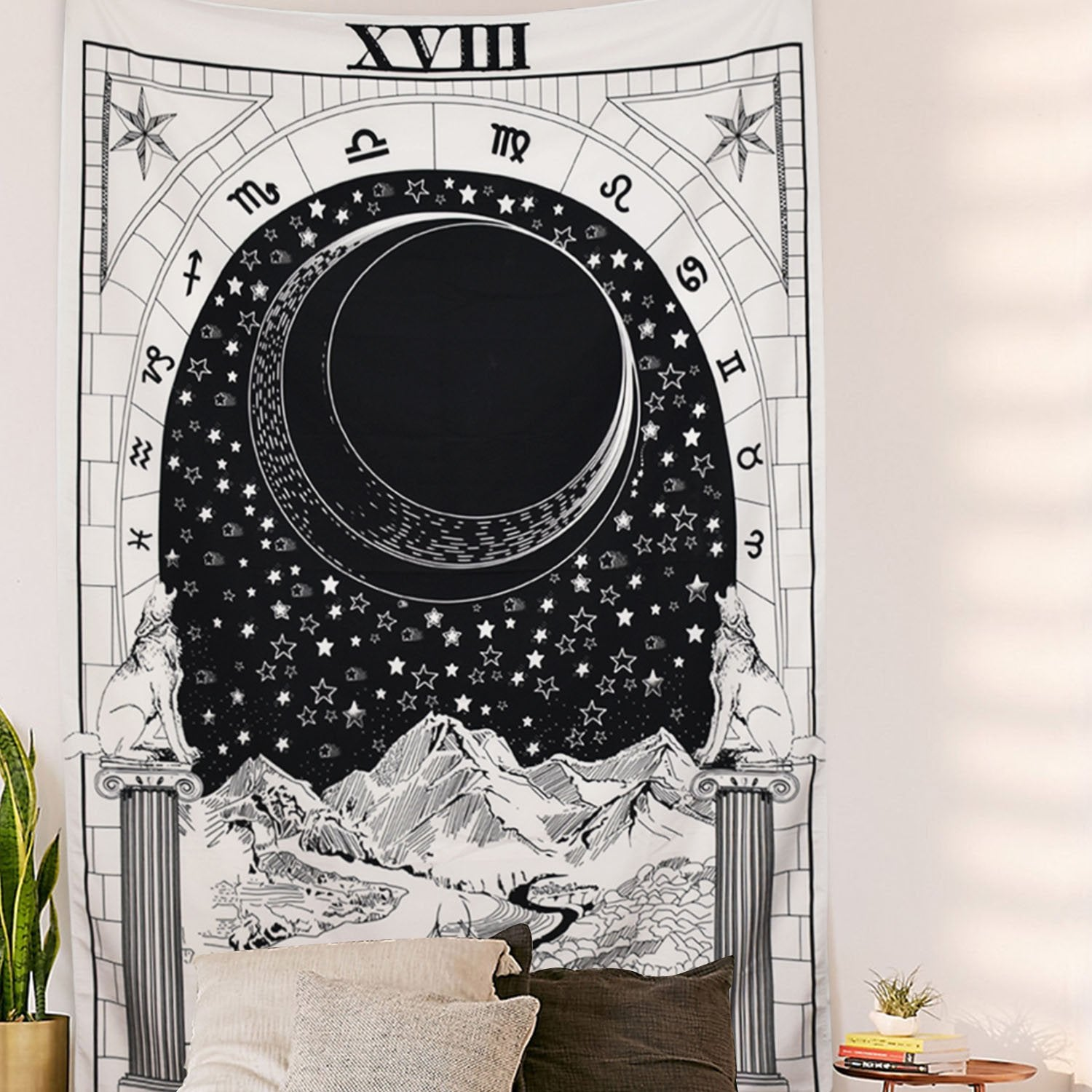The Moon Tapestry Tapestry Wall Hanging