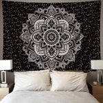 Mandala Tapestry Wall Hanging 51 x 59 Inches