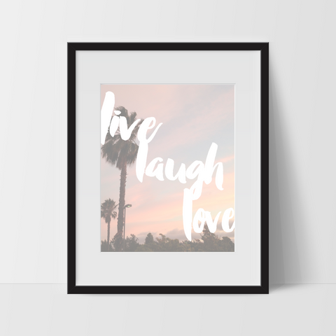 Motivational Wall Art, Street Sunset, Live Laugh Love, Dorm Room Art, For The Home, Minimalist - Ink Print Art