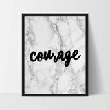 "Motivational Quote Poster ""Courage"" Home Office Dorm Living Room Decor [UNFRAMED] - Ink Print Art  - 2"