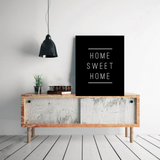 "Typography Quote Poster ""Home Sweet Home"" Home Dorm Living Room Decor [UNFRAMED] - Ink Print Art  - 1"