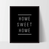 "Typography Quote Poster ""Home Sweet Home"" Home Dorm Living Room Decor [UNFRAMED] - Ink Print Art  - 2"