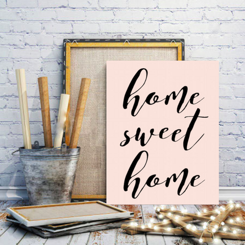 "Motivational Quote Poster ""Home Sweet Home"" Home Office Dorm Decor - Ink Print Art"