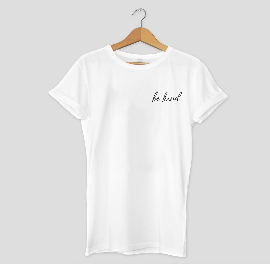 Be Kind Black Simple Text Women's Short Sleeve T-shirt