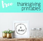 Thanksgiving Decor - Printable Art