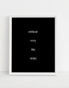 Celebrate Every Tiny Victory Printable Wall Art