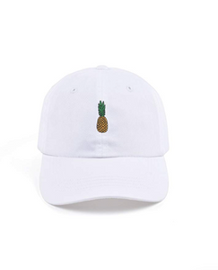 Pineapple Dad Hat Cotton Women Adjustable Baseball Cap