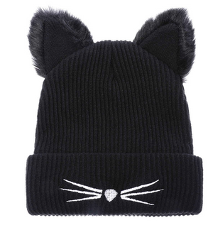 Cat Ears Beanie Hat Wool Crochet