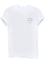 Rainy Cloud Women's Graphic Funny T Shirt Cute Tops Teen Girl Tees