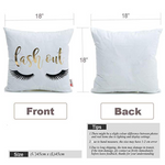 Eyelashes Home Pillowcases Decoration Throw Pillow Cover