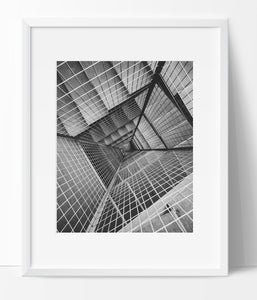 Stairway Wall Art Photography, Black and White Modern Art, Prints - Ink Print Art