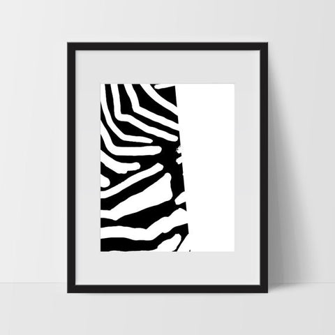 Abstract Wall Art, Black and White Modern Art - Ink Print Art  - 1
