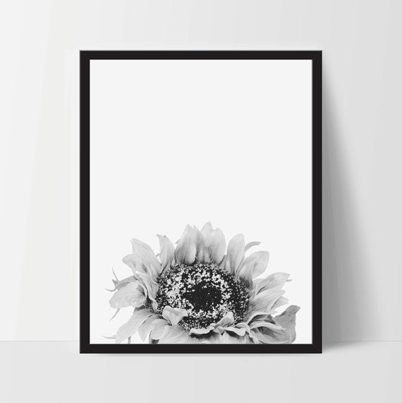 Sunflower Printable Wall Art, Home Decor, Instant Download - Ink Print Art  - 1