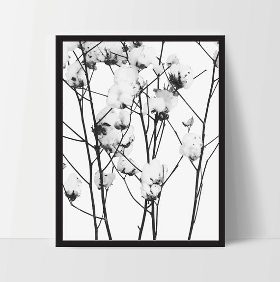 Flower Art Wall Decor, Modern Art Decor - Ink Print Art  - 1