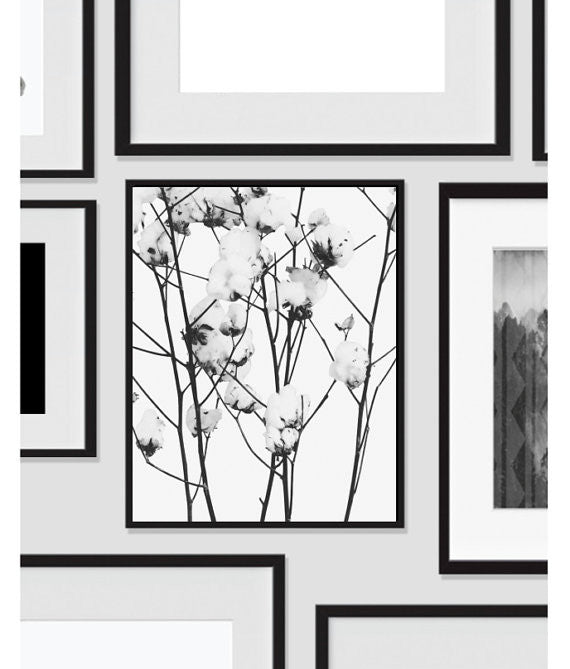Flower Art Wall Decor, Modern Art Decor - Ink Print Art  - 2