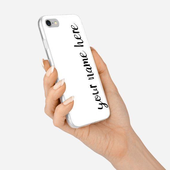 Personalized Custom Name Minimalist Case Cover for iPhone 6/6s, 6 Plus/6s Plus, 7/ 8, 7 Plus/8 Plus, X/XS, XS Max