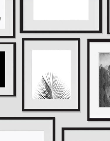 Palm Tree Wall Art, Tropical Monochromatic Art, Minimalist Prints, For The Home - Ink Print Art  - 1
