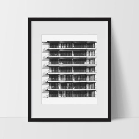 Architecture Wall Print, Black and White Modern Art, Photography - Ink Print Art  - 1