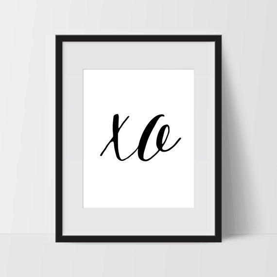 XO Printable Art, 11 x 14 Inches - Ink Print Art