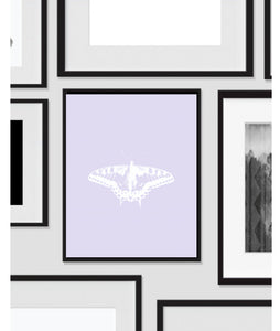 Butterfly Lavender, Printable, Wall Art, Artwork, Home Decor, Modern Print, Print Art, Nature Art, Color, Decorations, Digital Print