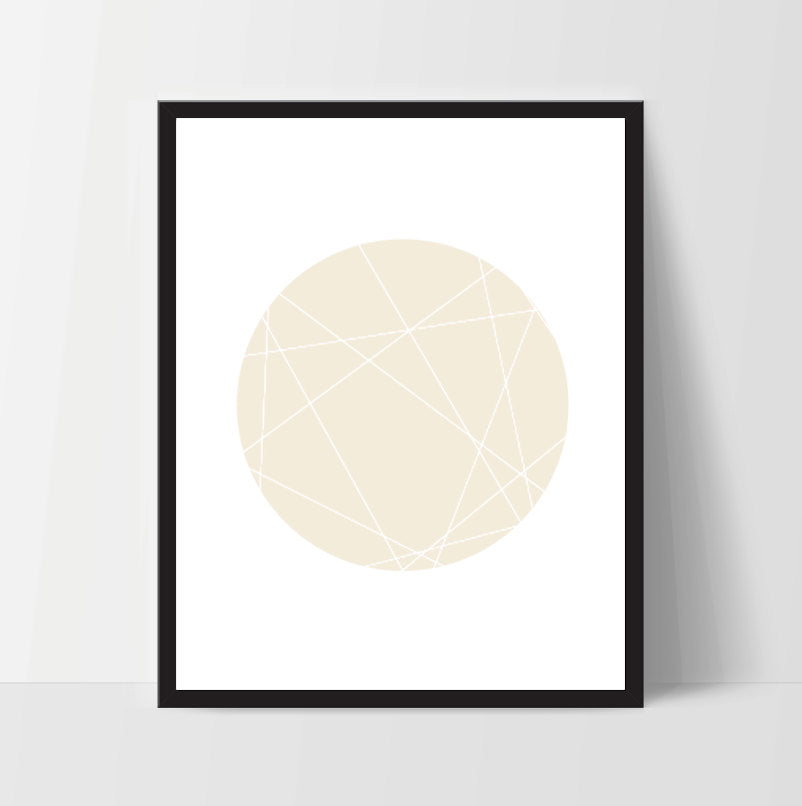 Printable Wall Art, Yellow Minimalist Circle, Print Decor, Digital Art Print, Office Print, 11x14, Geometric, Shape, Modern