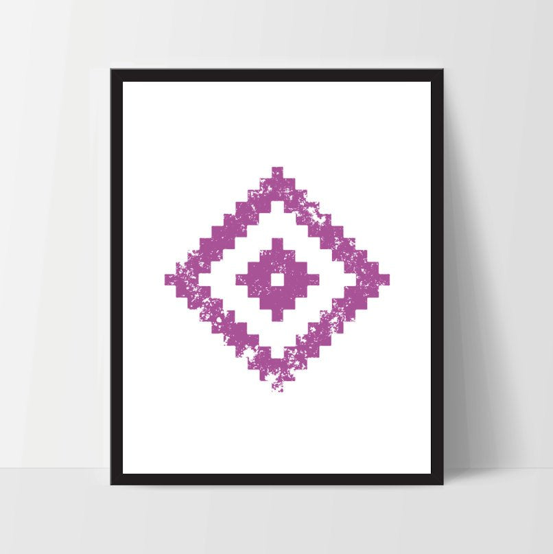 Geometric Wall Art, Magenta, Artwork, Home Decor, Modern Contemporary, Print Art, Instant Download, Boho, Nursery, Baby, Digital Print