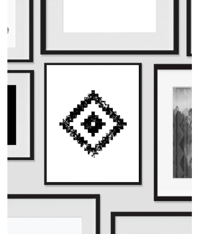 Geometric Wall Art, Black and White, Artwork, Home Decor, Modern Contemporary, Print Art, Instant Download, Boho, Nursery, Baby, Digital