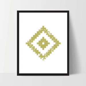 Geometric Wall Art, Mustard Yellow, Artwork, Home Decor, Modern Contemporary, Print Art, Instant Download, Boho, Nursery, Baby, Digital