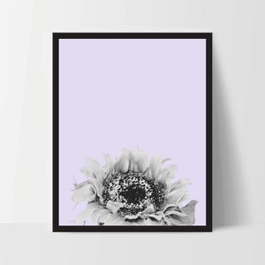 Printable, Purple Sunflower, Wall Art, Artwork, Home Decor, Modern Print, Print Art, Nature Art, Living Room, Digital Print, 12x16